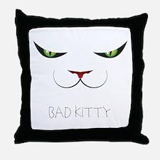 Bad Kitty Throw Pillow