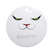 Bad Kitty Ornament (Round)
