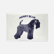 Cute Kerry blue terrier Rectangle Magnet