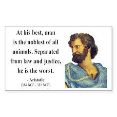 Aristotle 9 Rectangle Decal