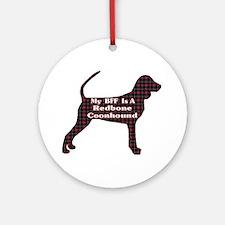 BFF Redbone Coonhound Ornament (Round)