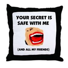 SAFE SECRET Throw Pillow