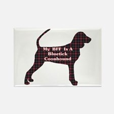 BFF Bluetick Coonhound Rectangle Magnet (100 pack)