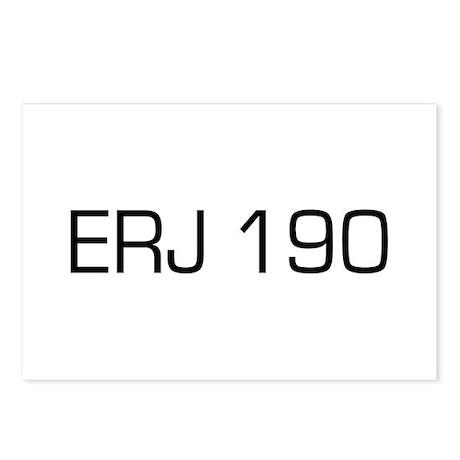 ERJ 190 Postcards (Package of 8)