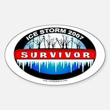 Ice Storm 2007 Survivor Oval Decal