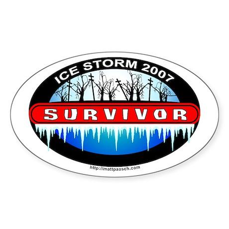 Ice Storm 2007 Survivor Oval Sticker