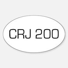 CRJ 200 Oval Decal