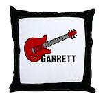 Guitar - Garrett Throw Pillow