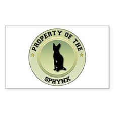 Sphynx Property Rectangle Decal