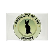 Sphynx Property Rectangle Magnet