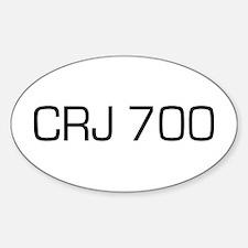 CRJ 700 Oval Decal