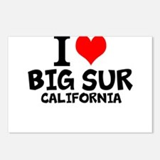 I Love Big Sur, California Postcards (Package of 8