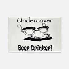 Undercover Beer Drinker Rectangle Magnet