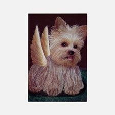 Yorkie Wings Rectangle Magnet