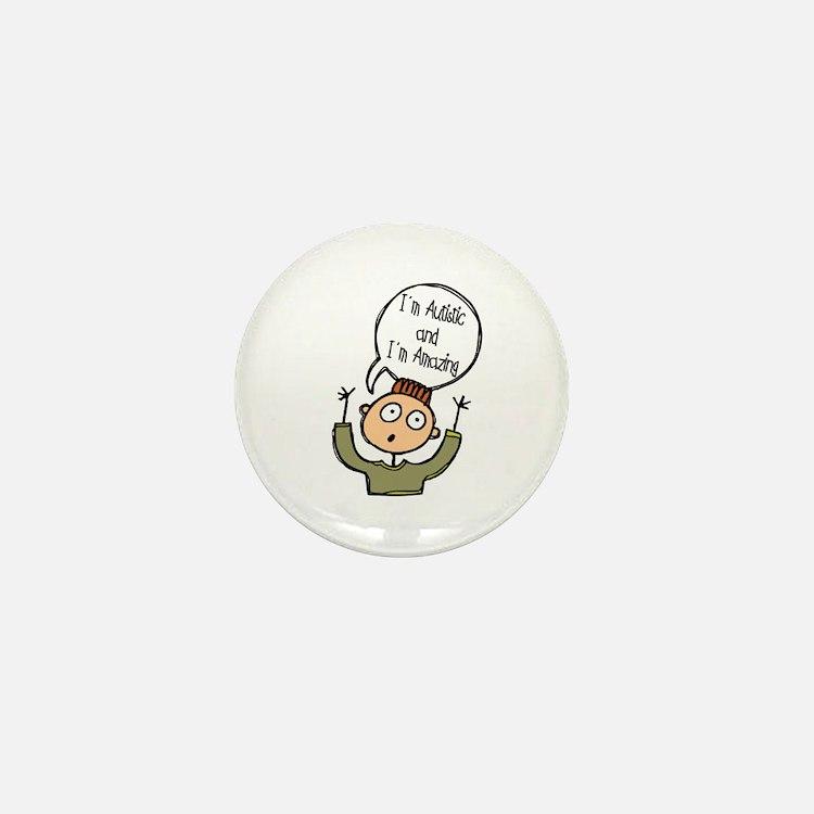 Autistic & Amazing Mini Button (10 pack)