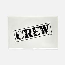 Crew Stamp Rectangle Magnet