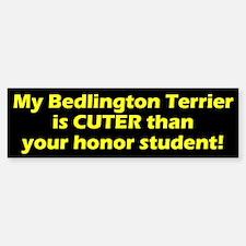Cuter Bedlington Terrier Bumper Bumper Bumper Sticker