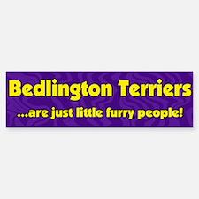 Furry People Bedlington Terrier Bumper Bumper Bumper Sticker
