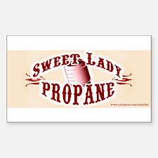 Sweet Lady Propane Rectangle Decal