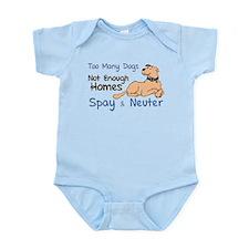 Too Many Dogs - Spay & Neuter Infant Bodysuit