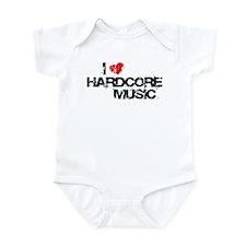 I Love Hardcore Music Infant Bodysuit