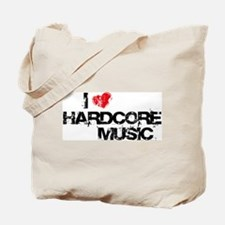 I Love Hardcore Music Tote Bag
