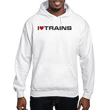 I Love Trains Jumper Hoody