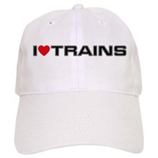 I Love Trains Baseball Cap
