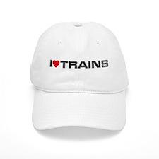 I Love Trains Baseball Cap