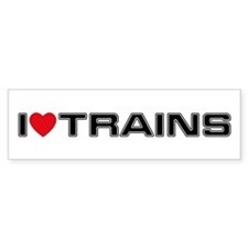 I Love Trains Bumper Bumper Sticker