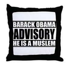Barack Oboma Advisory - He Is Throw Pillow