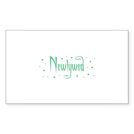 Newlywed - Charmed Green Rectangle Sticker