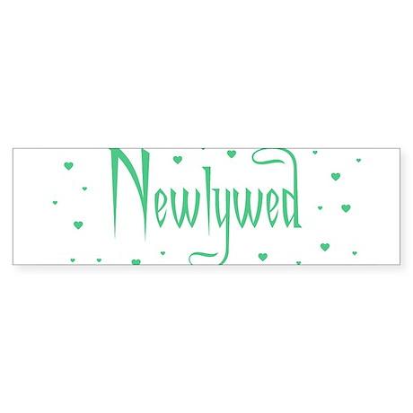 Newlywed - Charmed Green Bumper Sticker