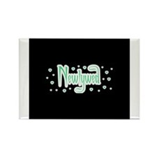 Newlywed - Charmed Green Rectangle Magnet