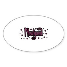 Newlywed - Charmed Pink Oval Decal