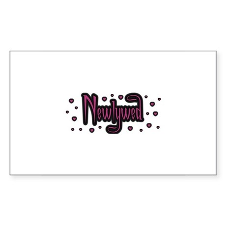 Newlywed - Charmed Pink Rectangle Sticker