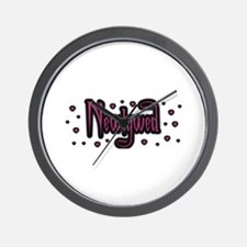Newlywed - Charmed Pink Wall Clock