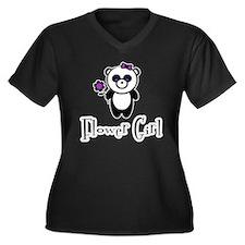 Flower Girl - Panda Women's Plus Size V-Neck Dark