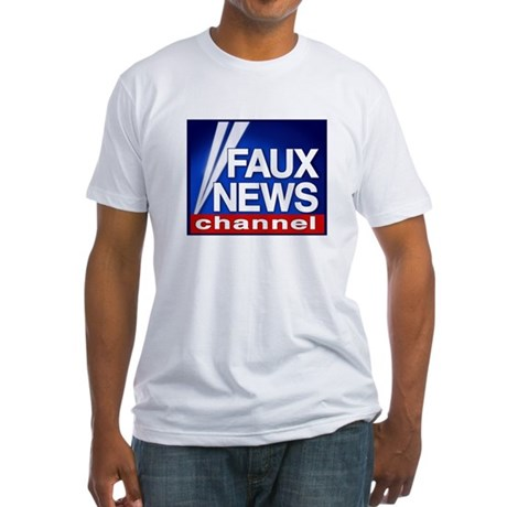 FAUX NEWS Fitted T-Shirt
