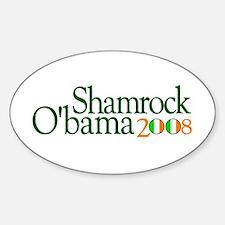 Shamrock O'bama 2008 Oval Decal