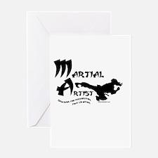 Martial Artist Greeting Card