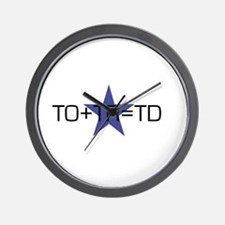 TO+TR=TD Wall Clock