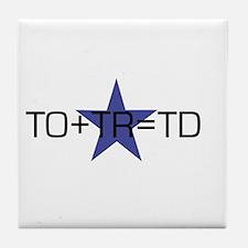 TO+TR=TD Tile Coaster