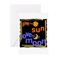 Love by the Moon Greeting Card