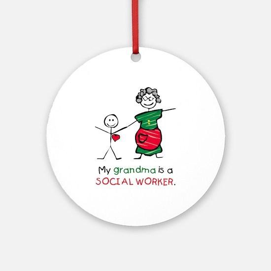Grandma is a SW Ornament (Round)