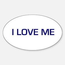 I Love Me Oval Decal