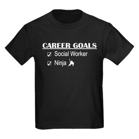 Social Worker Career Goals Kids Dark T-Shirt