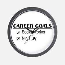 Social Worker Career Goals Wall Clock