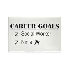 Social Worker Career Goals Rectangle Magnet