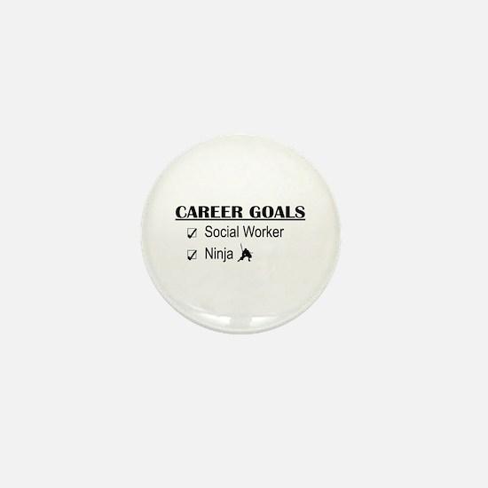 Social Worker Career Goals Mini Button